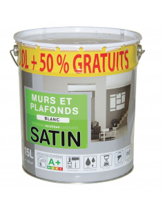 RECA Perforation murs & plafond satin 10L + 50%