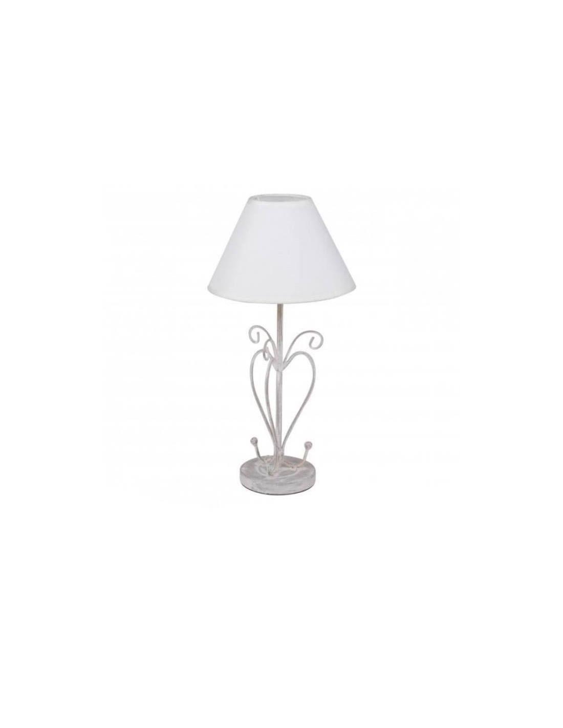 Monter Une Lampe De Chevet fornord lampe de chevet cœur métal h.43 cm