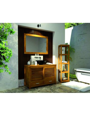 Pascal jr paillet meuble salle de bain en teck mimizan 110 cm hyper brico - Meuble salle de bain 110 cm ...