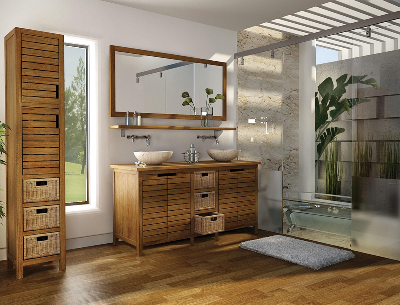 Salles De Bains Bruxelles ~ pascal jr pillet meuble de salle de bain en teck pyla 145 cm hyper
