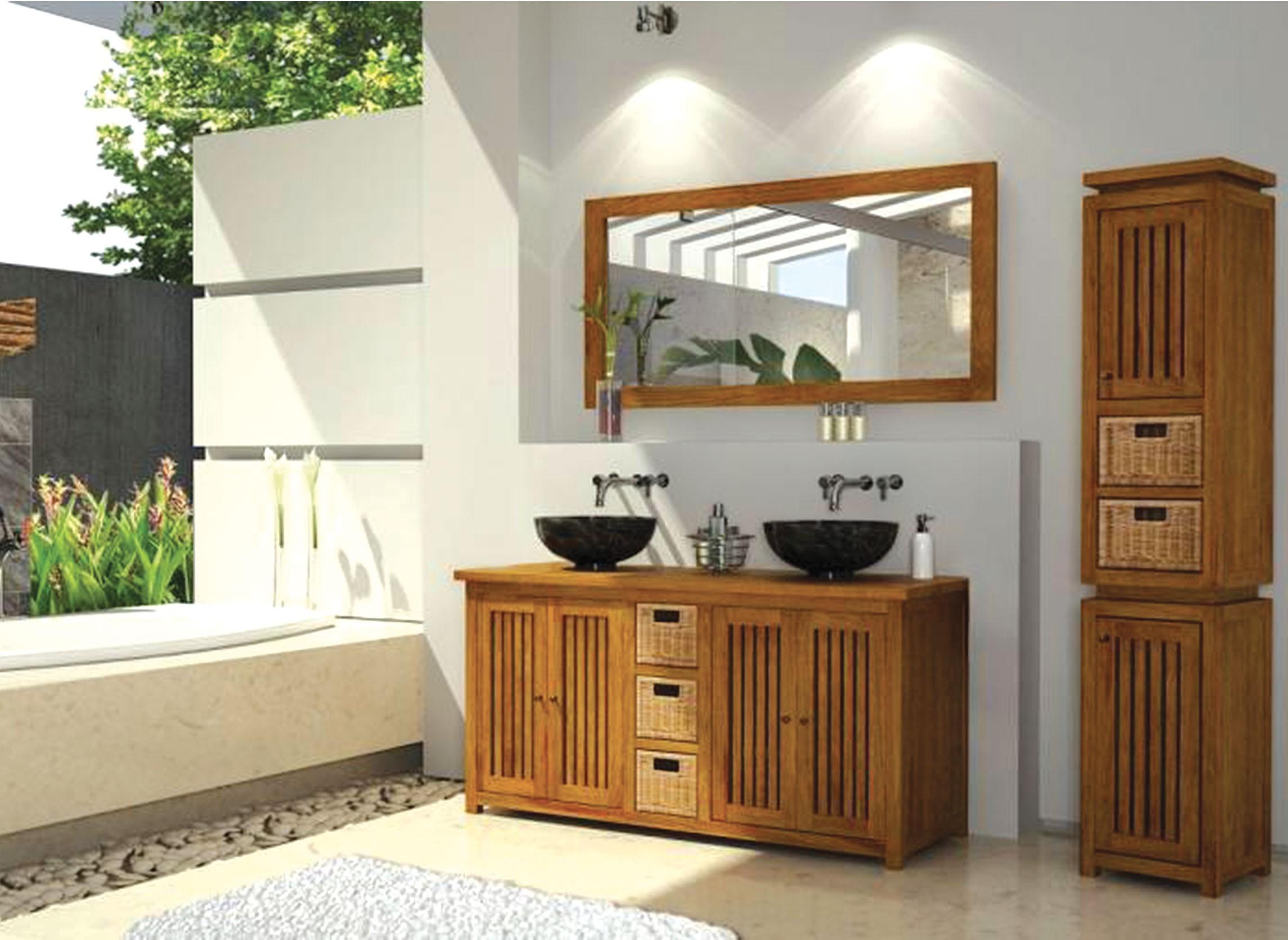 Salles De Bains Bruxelles ~ pascal jr pillet meuble de salle de bain en teck java 145 cm hyper