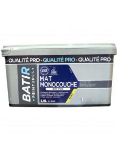 RECA Peinture Acrylique Monocouche BATIR Blanc Mat 2,5 L