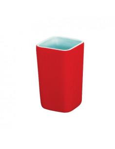 FRANDIS Gobelet carré céramique rouge