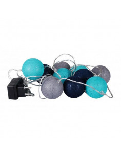 FORNORD Guirlande 15 boule bleu/gris
