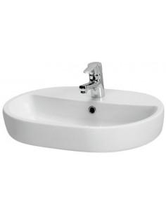 CERSANIT Vasque ronde 60 x 42 cm céramique blanche