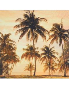 CEANOTHE  Toile palmiers 45 x 45 cm