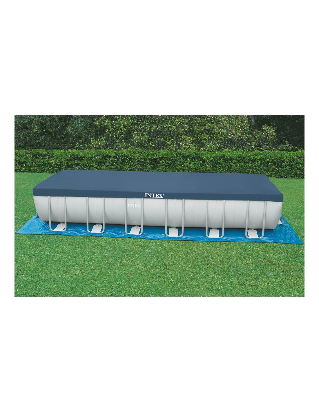 Intex piscine tubulaire rectangulaire ultra silver 549 x for Piscine intex tubulaire