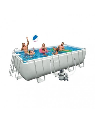 Intex piscine tubulaire rectangulaire ultra silver 457 x for Piscine intex silver ultra