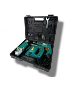 AITOPRO Coffret de 3 outils électroportatifs FJ2358 (perceuse + meuleuse + scie sauteuse) + Accessoires