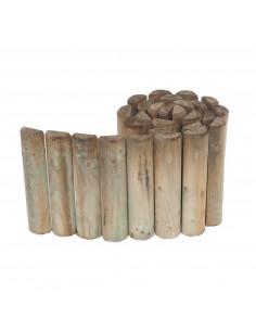 STELMET Bordure 1/2 rondin en bois de pin traité autoclave