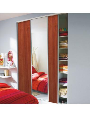 Lot de 3 vantaux de placard effet meriser et effet miroir for Piscine effet miroir prix