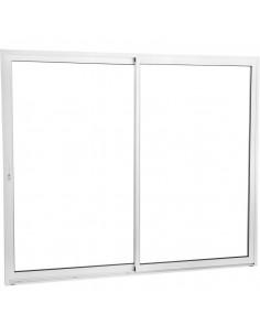 Baie vitrée aluminium 2200x2150mm 3 panneaux