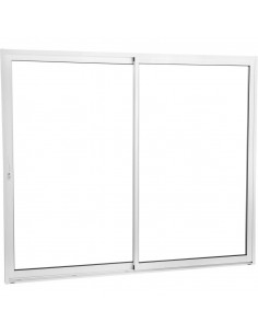 Baie vitrée aluminium 2400x2150mm