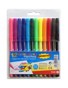 SUPERTITE Crayons Feutres 12 couleurs