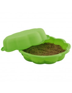 TRIGANO Bac à sable vert 93 x 93 x 20 cm