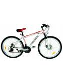 FEDER Vélo VTT 26'' rouge et blanc