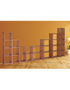 Étagère 4 tablettes eucalyptus 361 x 320 x 1145 mm