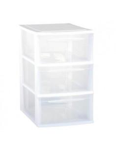 EDA Module A4 3 tiroirs en plastique blanc