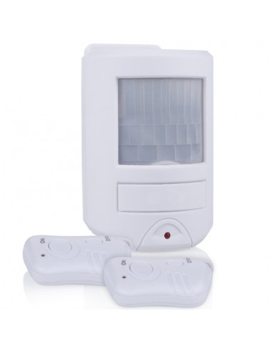 SMARTWARES Mini alarme à détection de mouvements avec 2 télécommandes SC45