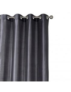 INOVA Silk rideau 8 oeillets polyester anthracite 140 x 250 m