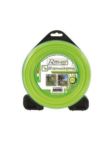 RIBIMEX Fils 450gr pour débroussailleuse carré d 2mm L 105m