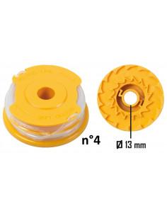 RIBIMEX Bobine de fil pour 4 en 1, débroussailleuse et coupe-bordures n°2 Ø1,4mmx2x5m Tap&Go