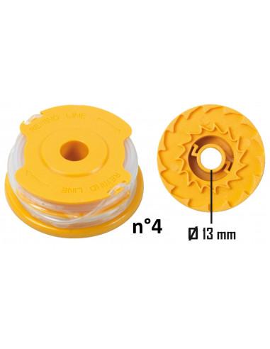 ribimex bobine de fil pour 4 en 1 d broussailleuse et coupe bordures n 2 1 4mmx2x5m tap go. Black Bedroom Furniture Sets. Home Design Ideas