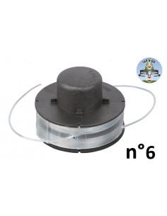 RIBIMEX Bobine de fil pour 4 en 1, débroussailleuse et coupe-bordures n°6 Ø1,2mmx2x3m Tap&Go