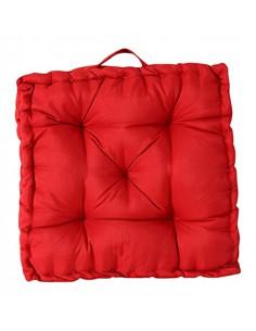 INOVA Oxford Coussin Sol Polyester Rouge 45 x 45 cm Epaisseur 8 cm Garnissage 500 g