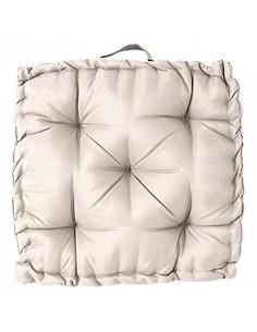 INOVA Oxford Coussin Sol Polyester Ficelle 45 x 45 cm Epaisseur 8 cm Garnissage 500 g