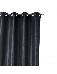 INOVA Gala Rideau 8 Œillets Polyester Noir 140 x 240 cm