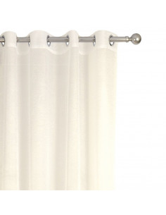 INOVA Crush Rideau 8 Œillets Polyester Ivoire 140 x 240 cm