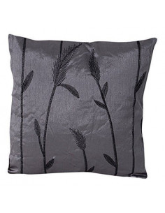 INOVA Jade Coussin Déhoussable Polyester Anthracite 40 x 40 cm Garnissage 300 g