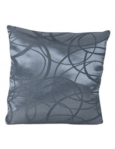 INOVA Bohol Coussin Déhoussable Polyester Anthracite 40 x 40 cm Garnissage 300 g