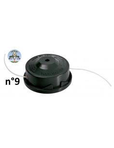 RIBIMEX Bobine de fil pour 4 en 1, débroussailleuse et coupe-bordures n°9 - Ø2,4mmx2x2,5m en lot de 2 - Tap&Go