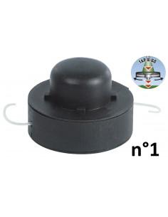 RIBIMEX Bobine de fil pour 4 en 1, débroussailleuse et coupe-bordures n°1 - Ø1,2mmx2x4m en lot de 2 - Tap&Go