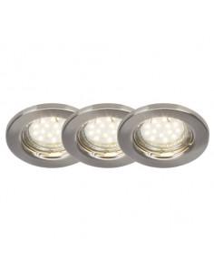 BRILLIANT Classic Kit 3 Spots Encastrés LED, Métal/NC, GU10, 3 W, Acier