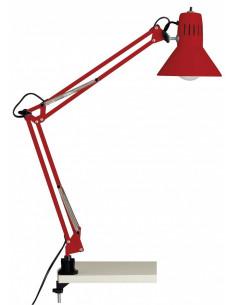 BRILLIANT Lampe architecte de bureau à pince Hobby rouge 70 cm