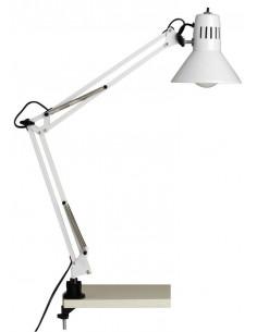 BRILLIANT Lampe architecte de bureau à pince Hobby Blanc 70 cm