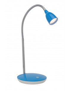 BRILLIANT ANTHONY Lampe à Poser LED Métal/Plastique Chrome/Bleu 1 x 3 W 16 x 28 x 40 cm