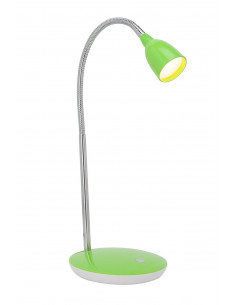 BRILLIANT ANTHONY Lampe à Poser LED Métal/Plastique Chrome/Vert 1 x 3 W 16 x 28 x 40 cm