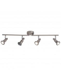 BRILLIANT Spot de Plafond RYAN LED Ajustable à 4 Lumières 7 W GU10 230 V Acier/Chrome