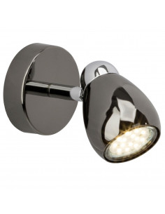 BRILLIANT Spot Patère MILANO LED 1x GU10 3W Noir/Chrome