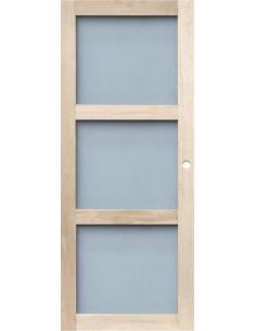 RB CLOSING Porte d'intérieur coulissante vitrée chêne, dim. h.204 x l.83 cm