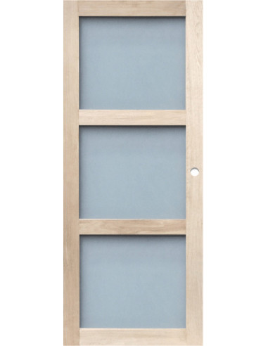 Porte d int rieur coulissante vitr e ch ne dim x l for Porte 204x83