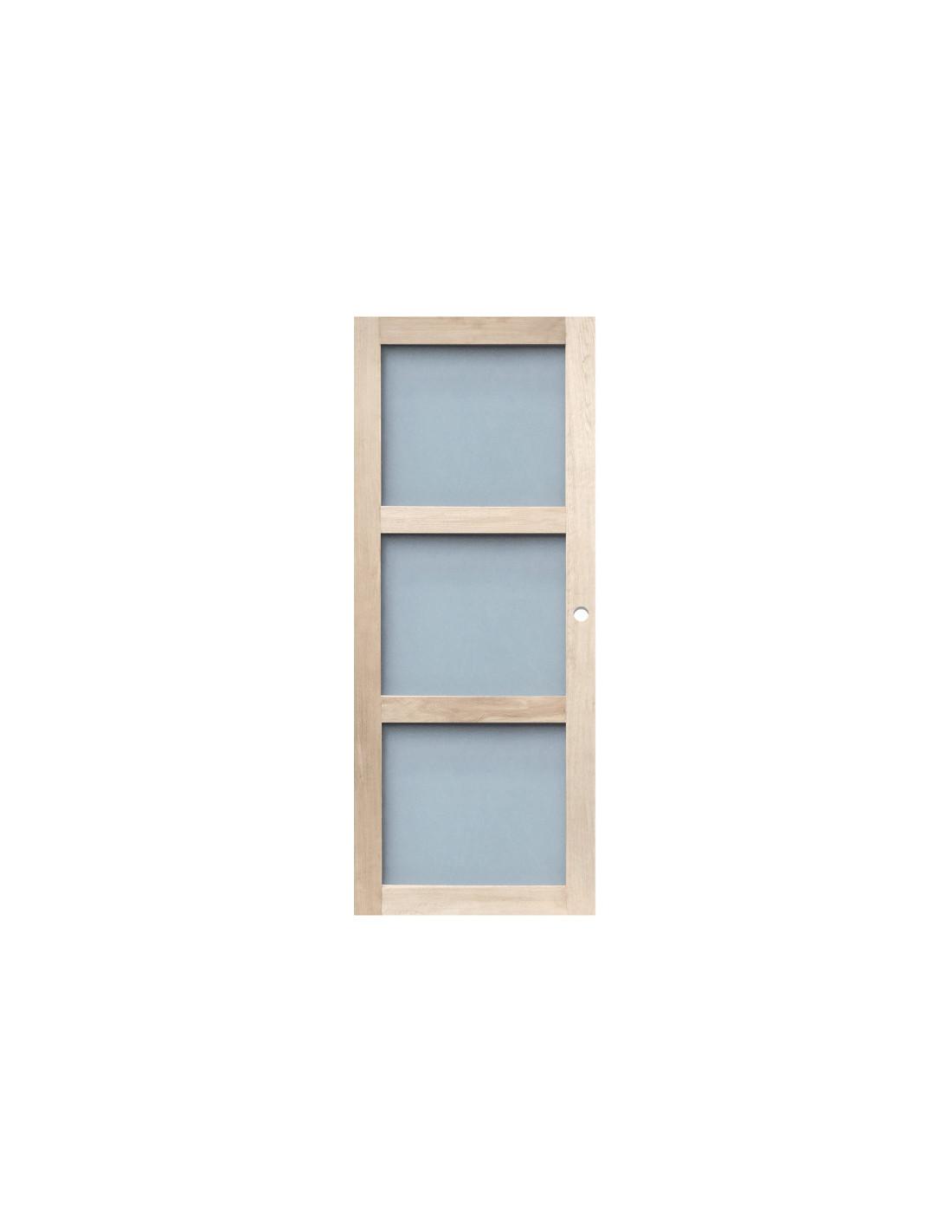Rb closing porte d int rieur coulissante vitr e ch ne dim for Porte 204x83