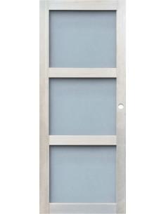 Porte d'intérieur coulissante vitrée eco 204x83 cm
