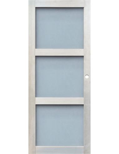 Porte d int rieur coulissante vitr e eco dim x l Porte interieure vitree 83 cm
