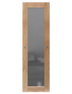 RB PANEL Vantail miroir coulissant chêne, dim. h.245 x l.76 cm