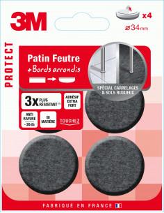 3M Patin feutre bi-matière adhésif extra fort Ø34 mm